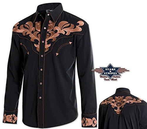"""Klassiches Westernhemd """"HARVEY"""" Herrenhemd Westernstyle v. Stars&Stripes (3XL)"""