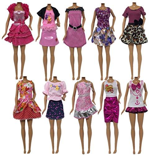 Kitty princess 10 PCS poupée tous les jours des vêtements décontractés pour style aléatoire de poupée barbie