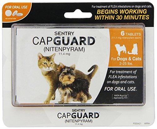 sentry-capguard-nitenpyram-oral-flea-treatment-medication-2-25-lbs-6-count