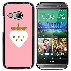 Be Good Phone Accessory // Dura Cáscara cubierta Protectora Caso Carcasa Funda de Protección para HTC ONE MINI 2 / M8 MINI // Strawberry Art Pink Drawing Watercolor