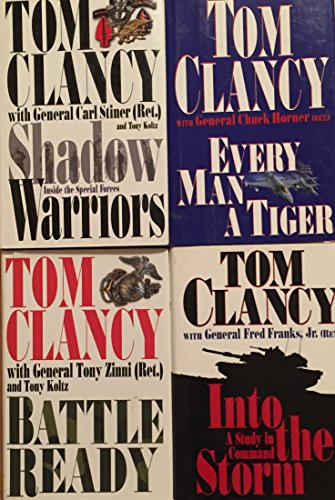 Tom Clancy Military History Novel Set of Four Books (Every Man A Tiger By Tom Clancy)
