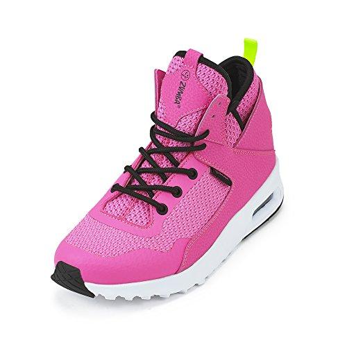 Zumba Femmes Air Chaussures Classiques Dentraînement De Danse Sportive Avec Sneaker Protection Contre Les Chocs Max Rose