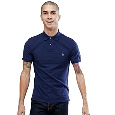 Ralph Lauren Polo para Hombre Small Pony Slim FIT (S, Marino ...