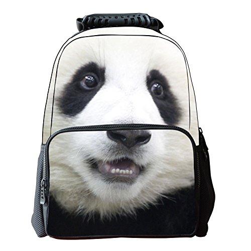 Unisexo Bolsas Escolar Animal Print 3D Tela de Fieltro Mochilas de Senderismo Panda
