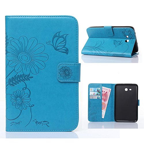 Samsung Galaxy Tab E Lite 7.0 Case -Akristal Slim Fit Folio Stand Leather Cover for Galaxy Tab E Lite SM-T113 / Tab 3 Lite 7.0 SM-T110 / SM-T111 7-Inch Tablet -