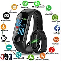 SBA999 Waterproof Advanced Upgraded M 3rd Generation Smart Activity Fitness Live Heart Rate Steps/Calorie Counter Blood Pressure Monitor Health Tracker Watch/Band with Touch Sensor OLED Screen