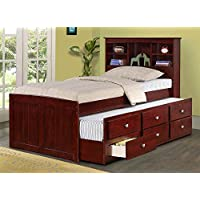 Twin Trundle Bed in Dark Cappuccino