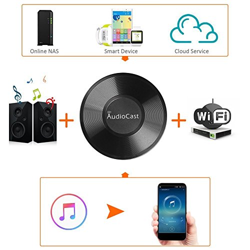 Veetop Wireless DLNA Airplay Music Receiver Adapter with TuneIn