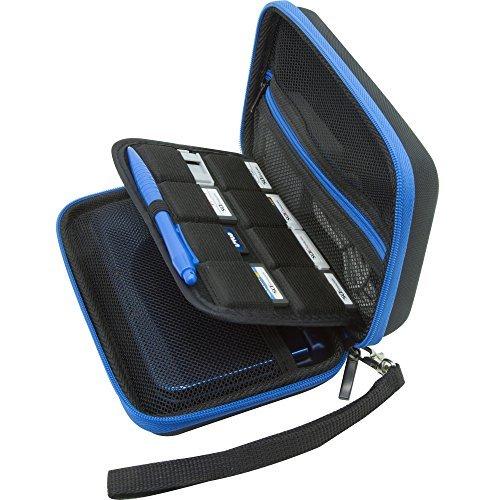 BENDO New Nintendo 3DS XL / 3DS XL / 3DS Hard Case/Tasche with 8 Game Holders -schwarz/blau