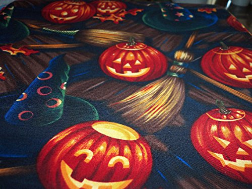 (Halloween Fabric Ghostly Pumpkins Very Scary Perfect Trick Or Treat New BTFQ)