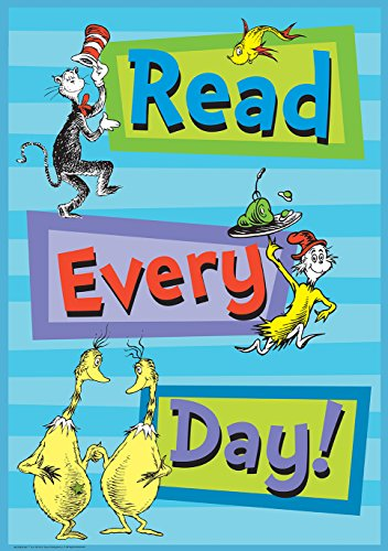 Eureka Dr. Seuss 'Read Every Day' Classroom Poster, 13'' W x 19'' H