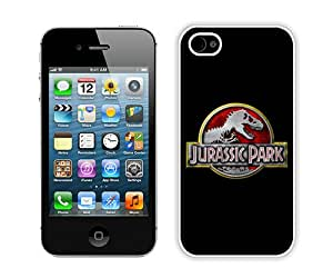 Beautiful And Unique Designed Case For iPhone 4S With Jurassic Park Logo (2) Phone Case
