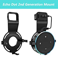 Echo Dot Wall Mount Holder for 2nd Generation Home Accessories Hanger Stand Outlet Smart Amazon 2 Gen Speakers Mounting Bracket Alexa Speaker Echogear Plug Kitchen Devices, USB Cable Included