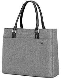 Laptop Tote Bag, 15.6 Inch Women Shoulder Bag Nylon Briefcase Casual Handbag Laptop Case for 15-15.9 Inch Tablet/Ultra-Book/MacBook / Chromebook (Grey)