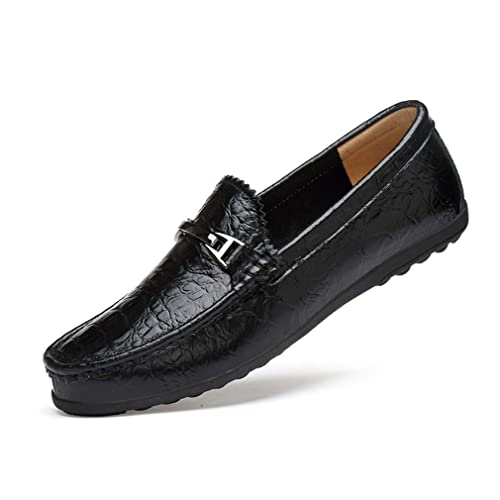 Zapatos para Hombre Nuevos Planos de Mocasines de Cuero Ocasionales Slip On Driving Mocasines Zapatos náuticos Bodas Ocasionales Fiesta y Noche al Aire ...