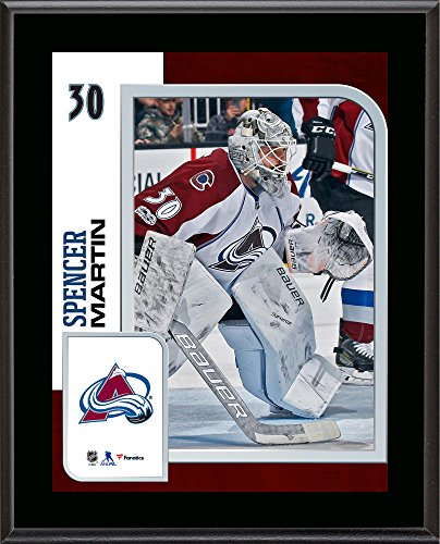 """Spencer Martin Colorado Avalanche 10.5"""" x 13"""" Sublimated Player Plaque - NHL Player Plaques and Collages by Sports..."""