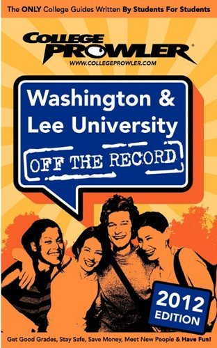 Washington & Lee University 2012: Off the Record by Barbieri Zachary John McWilliams Jeremiah (2011-03-15) Paperback