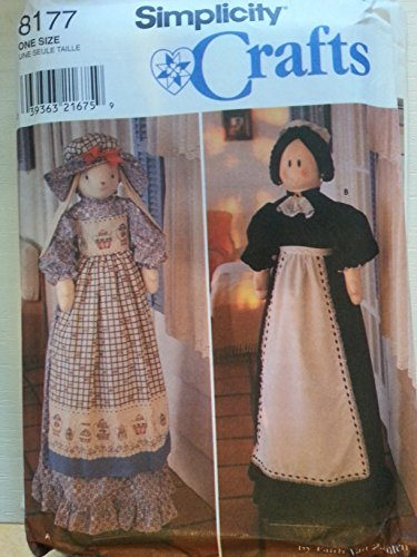 OOP Simplicity Crafts Pattern 8177. Bunny & Cleaning Lady Covers for Upright Vacuum Cleaners