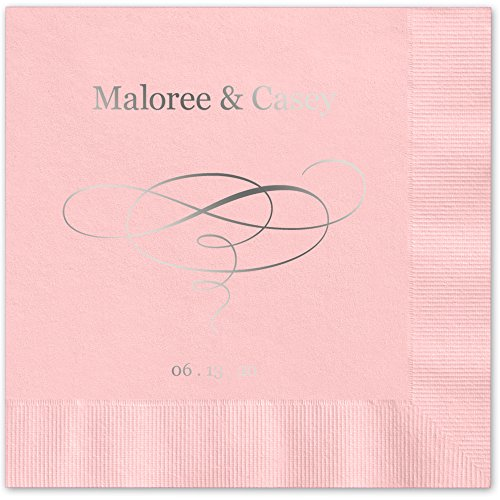 Elegant Personalized Luncheon Dinner Napkins product image