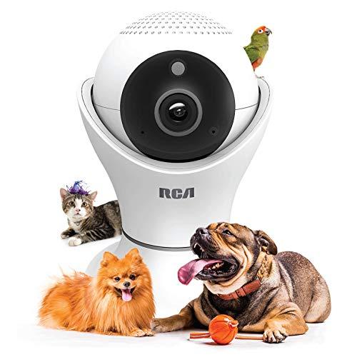 RCA Cámara de vigilancia para Mascotas Visión de 360º WiFi Visión Nocturna