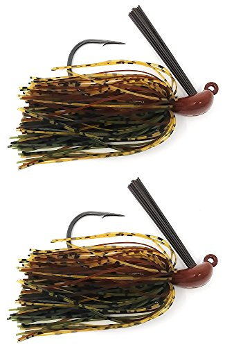 Reaction Tackle Flipping Jigs 1/2 oz Camo Craw
