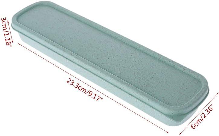 Youlin Scatola portaoggetti portatile per posate da viaggio verde
