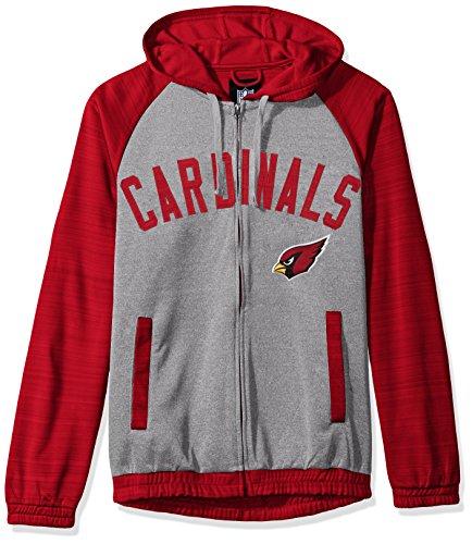G-III Sports NFL Arizona Cardinals Legend Hooded Track Jacket, Small, Gray from G-III Sports