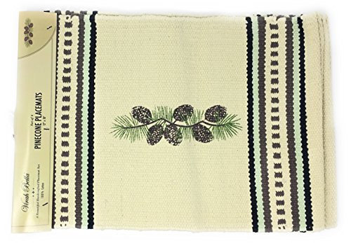 (Virah Bella Lodge Placemat Set by Phyllis Dobbs (Pinecone Beige/Brown))