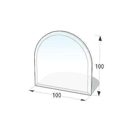 Lienbacher® - 21.02.881.2 - Funkenschutzplatte für Kaminofen - Glasplatte 8 mm (Zunge 1) - mit Facette, klar