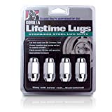 "Gorilla Automotive 96187SS Duplex Acorn Stainless Steel Lifetime Lug Nuts (1/2"" Thread Size)"