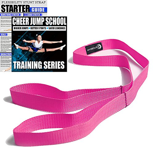 Cheerleading Flexibility Stunt Strap - Improve Stretching and Perfect Stunts for Cheer, Dance, and Gymnastics - Digital Training Download and Starter Guide - Available in 7 Colors -
