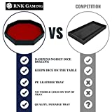 RNK Gaming 11.5 Inch Dice Tray PU Leather and Red