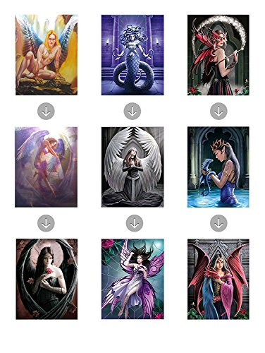 3D Posters and Lenticular (3 Images in 1) Wall Art by Those Flipping Pictures. Optical Illusion Images and Holographic Pictures (Fantasy-3 posters)