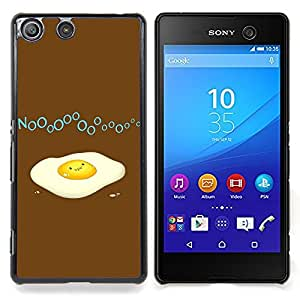 BullDog Case - FOR Sony Xperia M5 - Funny Broken Egg - Custom pl¨¢stico duro Volver Funda