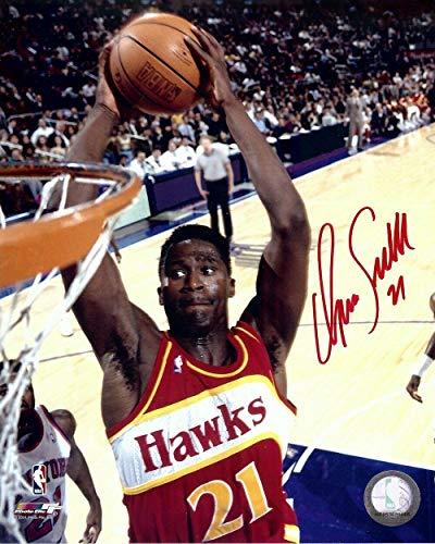 Dominique Wilkins Autographed Photograph - 8X10 Close up Dunk w COA - Autographed NBA Photos