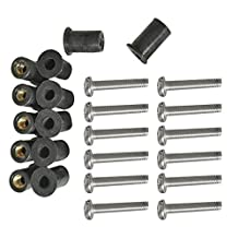 Dovewill 12 Pieces M4 M5 M6 Neoprene Rubber Well Nuts With SS Screws - Boat, Kayak, and Canoe Marine Hardware Fasteners Windscreen/Fairing Wellnuts
