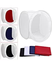 Neewer 24x24 Inch Photo Studio Shooting Tent Light Cube Diffusion Soft Box Kit with 4 Colors Backdrops (Red Dark Blue Black White) for Photography