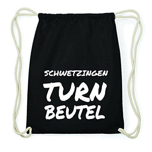 JOllify SCHWETZINGEN Hipster Turnbeutel Tasche Rucksack aus Baumwolle - Farbe: schwarz Design: Turnbeutel BaPchabPLa
