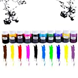 Adeeing 10 Pcs Crystal Color Concentrate, DIY Soap Dye, Epoxy Resin Crystal Drops