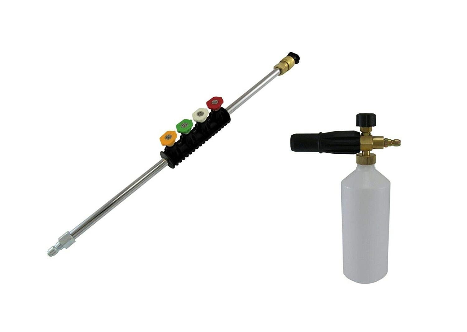 Compact Quick Release 11.6mm Lance Extension Holder With Quick Release Nozzles.