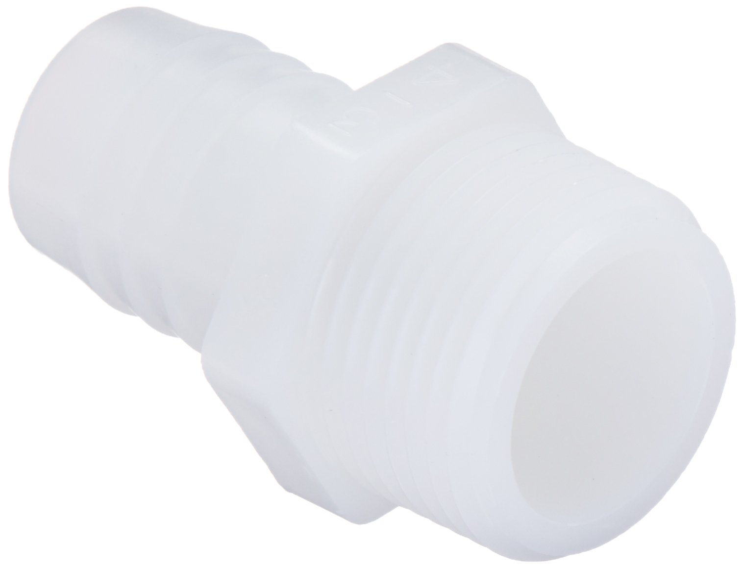 Parker Hannifin 325HB-12-12N-pk10 Par-Barb Male Connector Fitting, Nylon, 3/4'' Hose Barb x 3/4'' Male NPT, White (Pack of 10)