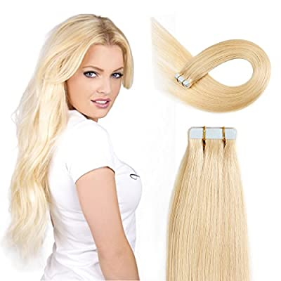 Beauty On Line Tape In Human Hair Extensions 16 Inch 20pcs 40g/pack Slilky Straight Seamless Skin Weft Remy Hair