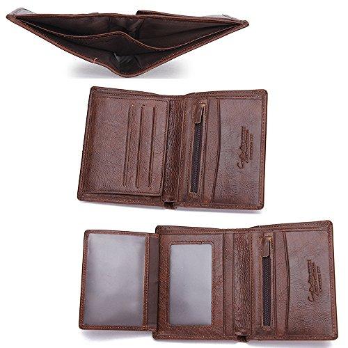 Genuine Wallet Wallet 4 Card Travel Multi Wallet Cowhide Leather Brown Vintage Leather 4451w