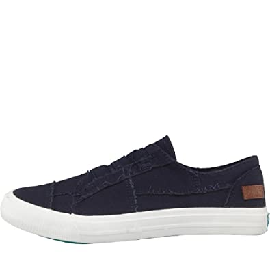 Blue Trainers Womens On 3 Navy Marley UK Blowfish Pumps Flat Slip Casual Oqf6tOI