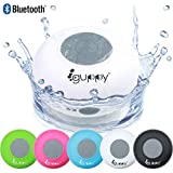 Guppy Water Resistant Bluetooth Shower Speaker - Wireless Portable - Kid-friendly, Built-in Control Buttons, Speakerphone, Powerful Suction Cup, Safety Lanyard - Best for Indoor/Outdoor Use (White)