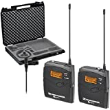 Sennheiser EW112PG3-A (516-558 MHz) G3 Camera-Mount Wireless Microphone System with ME 2 Lavalier Mic System plus Sennheiser CC 3 Case