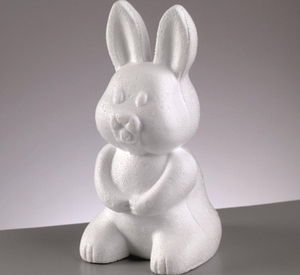 235mm Polystyrene Sitting Bunny Rabbit Shape | Styrofoam Shapes for Crafts Crafty Capers