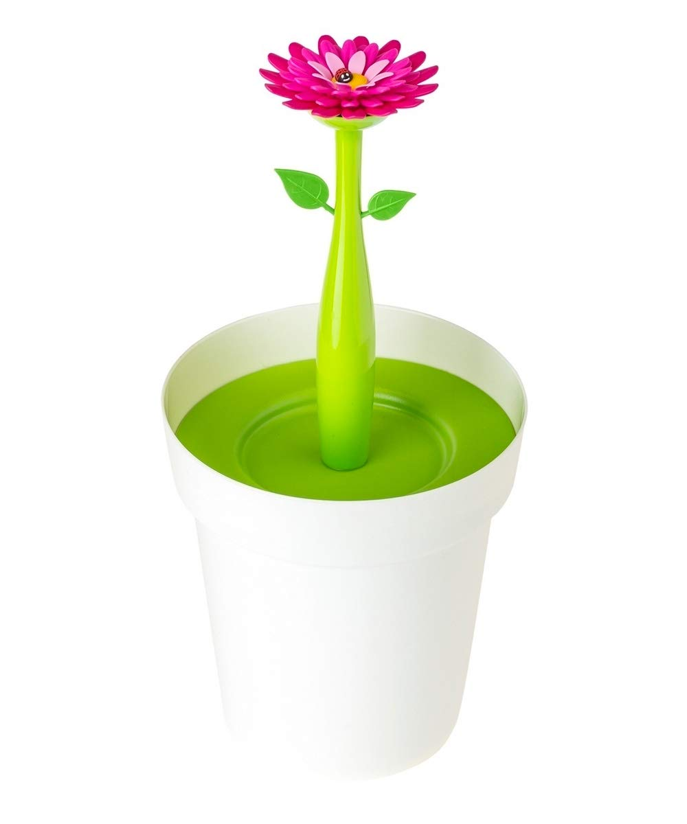 Vigar Pattumiera per Bagno Flower Power - 8023_ROJO VERDE BLANCO