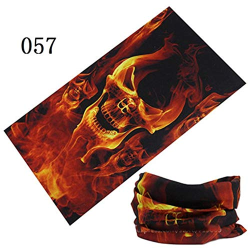 ZFADDS Skull Design Series Scarf Variety Tube Half Face Mask Halloween Headband Bandana Headwear Bicycle Head Scarf 57 Onesize