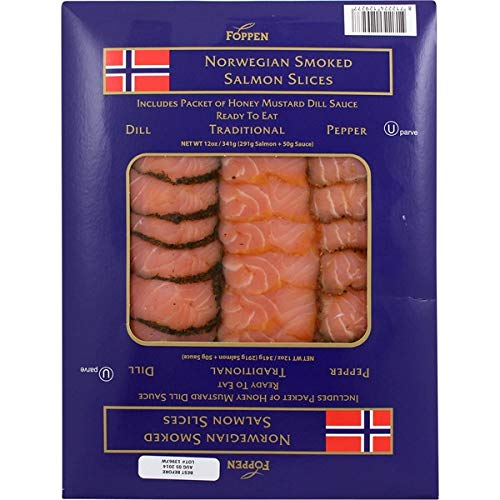 Foppen Norwegian Traditional,Expect More Dill, and Pepper Smoked Salmon Slices